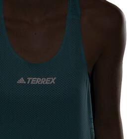 adidas TERREX Parley Agravic TR Singlet Women, turkusowy/czarny